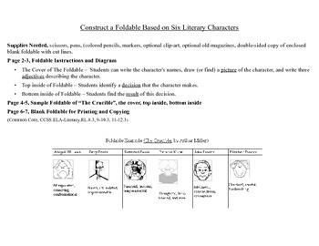 Character Development Foldable