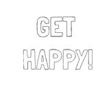 "Character Development - ""Get Happy!"" Bulletin Board"