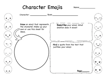 Character Development Graphic Organizers