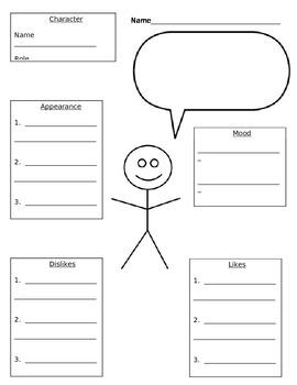 Character Development Organizer