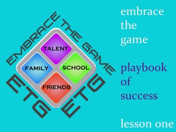 Character Development Program: Lesson 1 What is Success? Embrace the Game Bundle