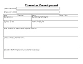 Character Development Project w/ Worksheet, Presentation,