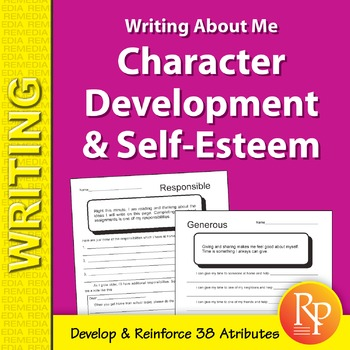Character Development & Self Esteem: Writing About Me