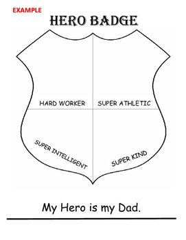 Character Development: Super-Hero Activity Real-Life Heroes (Printable Activity)