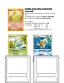 Character Development Trading Cards Pokemon style