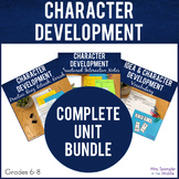 Character Development Printable Unit  Vocabulary  Guided N