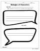 Character Dialogue Speech Bubbles Graphic Organizer
