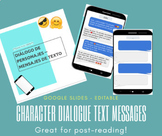Character Dialogue Text Messages #COVID19WL