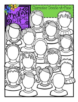 Character Doodle-A-Face {Creative Clips Digital Clipart}