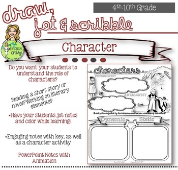 Character-Draw, Jot, & Scribble, Coloring Notes