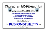 CHARACTER EDUCATION - Mantra Minute Affirmations for Respo