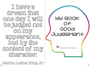 Character Ed Booklet: Good Judgement