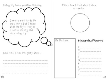 Character Ed Booklet - Integrity