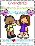 Character Ed. Morning Response Activity Sheets