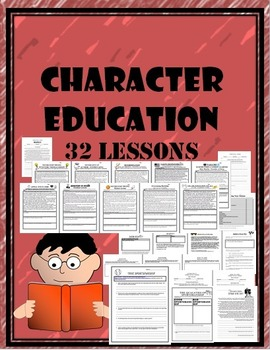 Character Ed. Workbook 32 Lessons