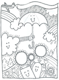 Character Ed illustrations: 7 coloring sheets & bulletin board plan