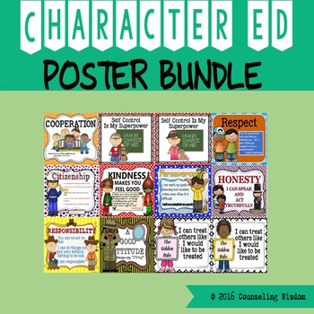 Character Education  Poster Bundle