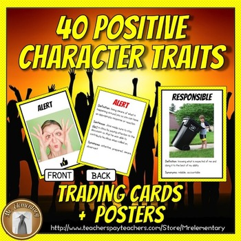 Character Education: Positive Character Traits Vocabulary Resources