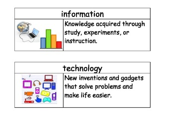 Character Education & 21 Century Learning Vocabulary Cards