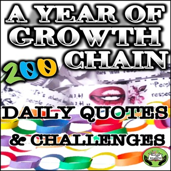 SEL Character Education: A Year of Growth- Daily Quotes & Challenges