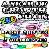 SEL Character Education: A Year of Growth- Daily Quotes &
