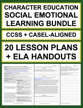 Character Education Activities: Social Emotional Learning ELA Curriculum