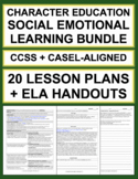 Character Education Bundle: Social Emotional Learning Activities for Writing/ELA