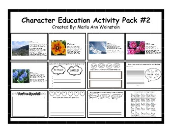 Character Education Activity Pack #2