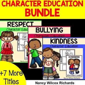 Anti Bullying Character Education BUNDLE  with Emergent Readers