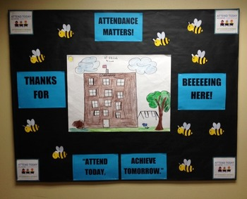 Character Education: Attendance Matters bulletin board idea