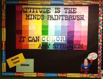 Character Education: Attitude bulletin board idea