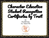 Character Education Award Certificates