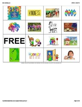 Character Education Bingo