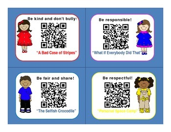 Character Education Books QR Codes