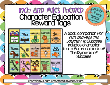 Character Education Brag Tags - Inch and Miles Themed