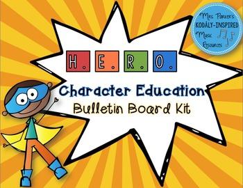 Character Education Bulletin Board Kit: H.E.R.O {Superhero-Themed}