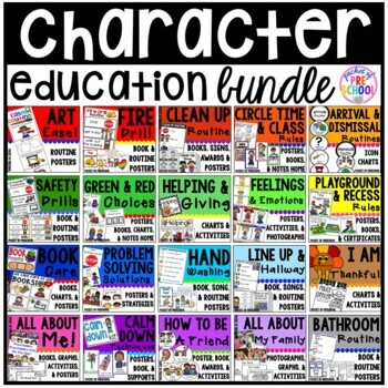 Character Education Bundle for Preschool, Pre-K, and Kindergarten by Pocket of Preschool