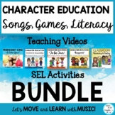 Character Education Bundle: Literacy Activities, Songs, Ga