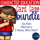 Character Education Card Games: Memory, Go Fish, and I Have, Who Has-Style Games