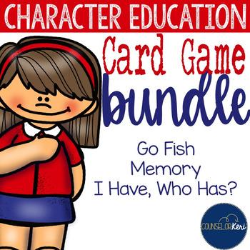 Character Education Card Games: Memory, Go Fish, and I Hav
