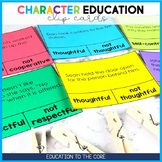 Character Education Clip Cards
