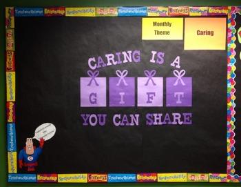 Character Education: Caring bulletin board idea