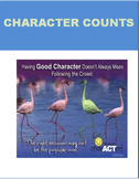 """Character Counts"" lesson, 2 activities and a writing prompt"