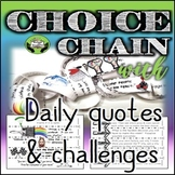 SEL Character Education- Choice Chain: Daily Quotes & Challenges