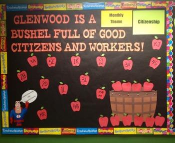 Character Education: Citizenship bulletin board idea