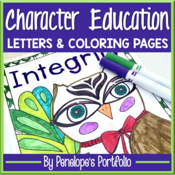 Character Education Activity:  Character Education Coloring Pages