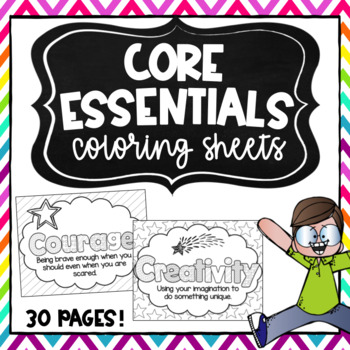 Character Education Coloring Sheets and More!