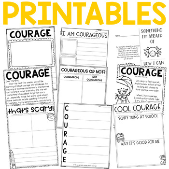 Character Education: Courage {Lesson Plans and Activities}