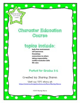 Character Education-Conflict Resolution Course - 8 Week Package