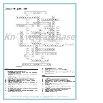 "Character Education Crossword Puzzles (Volume 1) (""LITE"" VERSION)"